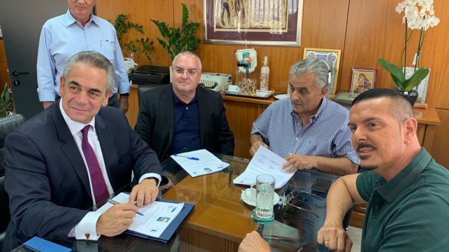 Μνημόνιο συνεργασίας μεταξύ Θ.Ε.Α. του EBEA, Δήμου Αγίας Βαρβάρας και Παν/μίου Δ.Αττικής