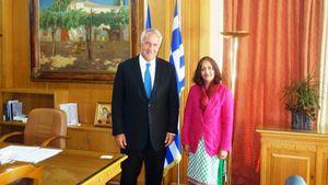 Συνάντηση Βορίδη με την πρέσβειρα της Ινδίας, Jain Shamma