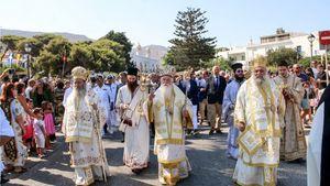 Πάρος: Με λαμπρότητα ο εορτασμός της Κοίμησης της Θεοτόκου στην Παναγία Εκατονταπυλιανή