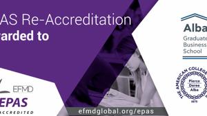 H κορυφαία πιστοποίηση EPAS διάρκειας 5 ετών σε 2 προγράμματα του Alba Business School