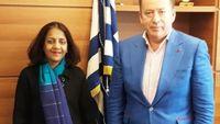 Οι εξαγωγές μήλων στο επίκεντρο της συνάντησης του Β. Κόκκαλη με την πρέσβειρα της Ινδίας