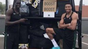 H Adidas έστειλε στον Αντετοκούνμπο ένα φορτηγό γεμάτο παπούτσια για να τον δελεάσει!