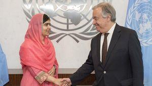Η Μαλάλα ανακηρύχθηκε η νεότερη Αγγελιοφόρος Ειρήνης από τον ΟΗΕ