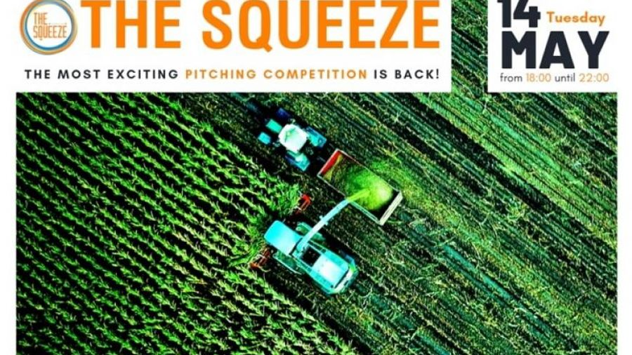 """""""The Squeeze"""": Οκτώ Agri-Food startups αναμετρώνται στον pitching διαγωνισμό στις 14 Μαΐου"""