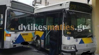 Αιγάλεω: Σύγκρουση λεωφορείων με τραυματίες