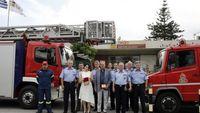 Δωρεά οχημάτων από το Πυροσβεστικό Σώμα Ελλάδας σε Δήμους της Αλβανίας