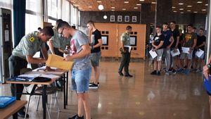 Κατάταξη πρωτοετών Ευελπίδων στις εγκαταστάσεις της ΣΣΕ