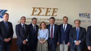Ασφαλιστικό και εργασιακά στο επίκεντρο της συνάντησης ΝΔ - ΕΣΕΕ