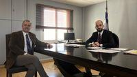 Συνάντηση Υφ. Εργασίας, Κώστα Μπάρκα, με τον Γ.Γ. Μεταναστευτικής Πολιτικής