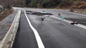 Κατολισθήσεις και κομμένοι δρόμοι στην Ε.Ο. Καλαμάτας - Σπάρτης και στο οδικό δίκτυο του Ταϋγέτου