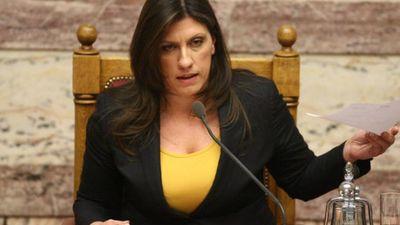 Κωνσταντοπούλου: Η Βουλή δεν πρέπει να επιτρέψει να ολοκληρωθεί ο εκβιασμός