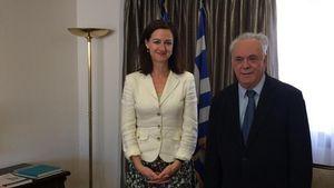 Συνάντηση Γιάννη Δραγασάκη με την Πρέσβη της Αυστραλίας