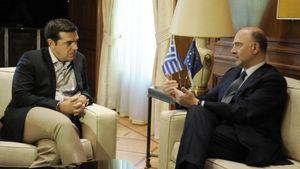 """Συνάντηση Τσίπρα- Μοσκοβισί: """"Είμαστε στο σωστό δρόμο"""""""