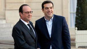 """Τσίπρας σε Ολάντ: """"Είμαι πολύ χαρούμενος που ξαναβλέπω έναν πολύ καλό φίλο της Ελλάδας"""""""