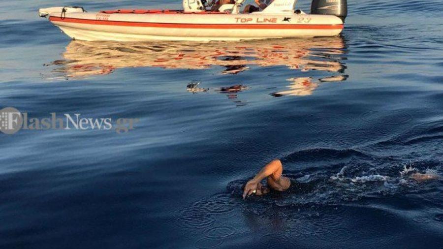Από τα Σφακιά στη Γαύδο κολυμπώντας για καλό σκοπό