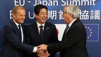 «Μήνυμα» στον Τραμπ: Συμφωνία ελεύθερου εμπορίου υπογράφουν Ιαπωνία - ΕΕ