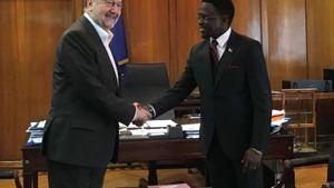 Συνάντηση του Αναπληρωτή Υπουργού Βιομηχανίας με τον Υφυπουργό Εξωτερικών της Κένυας