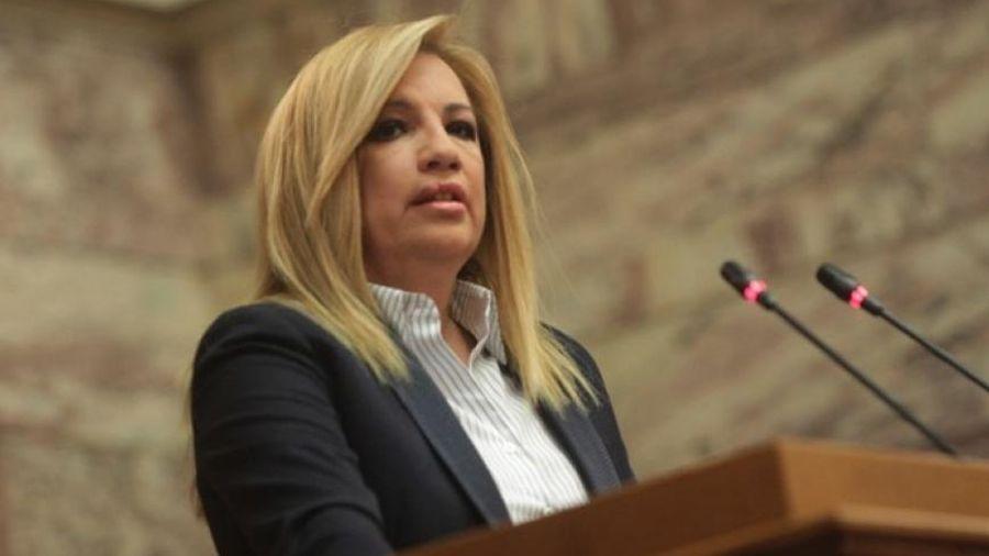 """Φ. Γεννηματά: """"Το πρόβλημα είναι ότι η κυβέρνηση δεν εμπνέει εμπιστοσύνη στην ελληνική οικονομία"""""""