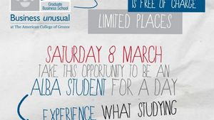 ALBA: Πρόγραμμα «Be A Student For A Day»