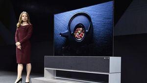 Η LG παρουσίασε τηλεόραση που τυλίγεται και ξετυλίγεται σαν ρολό