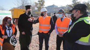 Γεωργιάδης: Επισκέφθηκε το υπό κατασκευή Ιωνικό Κέντρο της Ιεράς Μητροπόλεως Νέας Ιωνίας