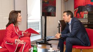 Συνάντηση της Γιάννας Αγγελοπούλου-Δασκαλάκη με τον Πρόεδρο του ΣΥΡΙΖΑ Αλέξη Τσίπρα
