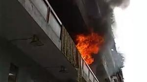 Φωτιά σε πολυκατοικία στην Καλλιθέα