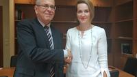 Συνάντηση Α. Σδούκου με τον πρέσβη του Ισραήλ