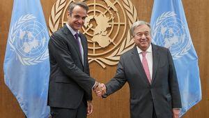 Συνάντηση Μητσοτάκη με Γενικό Γραμματέα ΟΗΕ για την κλιματική αλλαγή και το κυπριακό