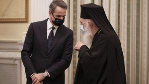 Μητσοτάκης προς Ιερώνυμο: Η εκκλησία να αναλάβει τις ευθύνες της-Κοινό μέτωπο κατά του ιού