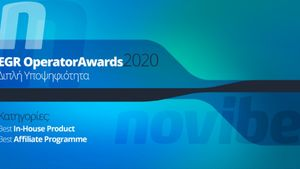 Novibet: Διπλή Υποψηφιότητα στα EGR Operator Awards 2020