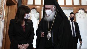 Η ΠτΔ συναντήθηκε με τον Ιερώνυμο στην Αρχιεπισκοπή