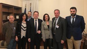 Συνάντηση ΣΗΠΕ με υφυπουργό κο Πέτσα για το πρόγραμμα ενίσχυσης του περιφερειακού Τύπου