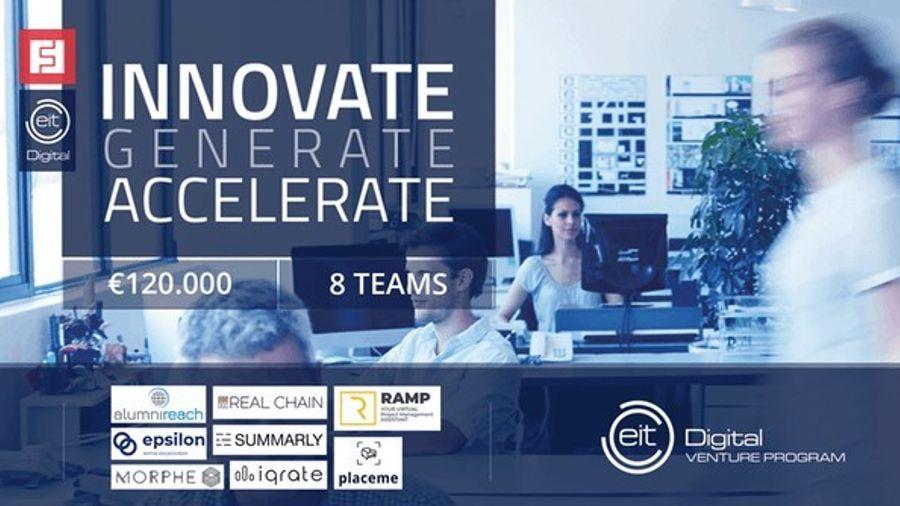 ΕIT Digital Venture Program: 120.000 ευρώ δόθηκαν το 2019 σε 8 startups
