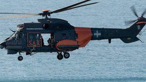 Μεταφορά Τούρκου ασθενούς από εμπορικό πλοίο με ελικόπτερο Σούπερ Πούμα της Π.Α.