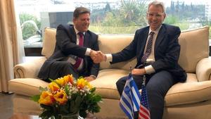 Συνάντηση Βαρβιτσιώτη - Πάιατ: Επιβεβαιώθηκαν οι άριστες σχέσεις Ελλάδας – ΗΠΑ