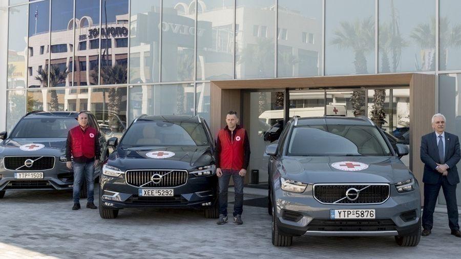 Volvo Car Hellas: Eνισχύει με αυτοκίνητά της τον Ελληνικό Ερυθρό Σταυρό